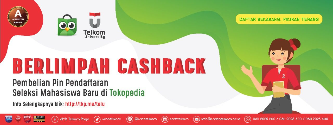 Cashback Tokopedia Telkom University 2020